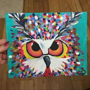 Other - Whimsical Owl Painting (MAKE OFFER)
